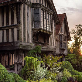 Sunset At Great Dixter House And Gardens by Perry Rodriguez