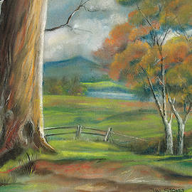 Tree In The Meadow by Val Stokes