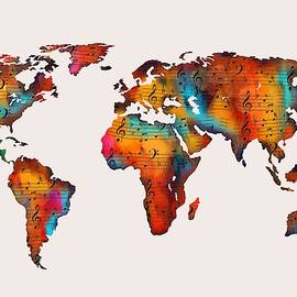 World map by Nesrin Gulistan