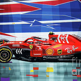 2018 Usa Gp Ferrari Sf71h Kimi Raikkonen Winner by Yuriy Shevchuk