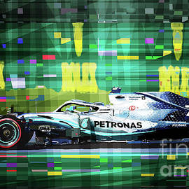 2019 Australian Gp Mercedes Bottas Winner by Yuriy Shevchuk