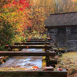2019 Mingus Mill During Fall In The Great Smoky Mountain National Park by Carol Montoya