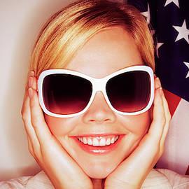 2041 Blonde Elisa and American Flag by Atelier Nasser