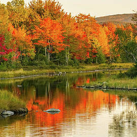 Autumn reflections by Claudia M Photography