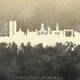 Kingston Upon Hull England Skyline by Michael Tompsett