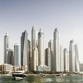 Modern city skyline by Alexey Stiop