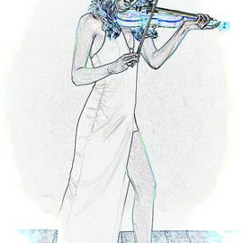 412.1854 Violin Musician by M K Miller