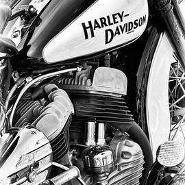 47 Harley Flathead Monochrome by Tim Gainey