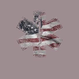 4th of July Paramedic T-Shirt EMS EMT USA American Flag Tee by Unique Tees