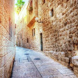 Jerusalem street by Alexey Stiop