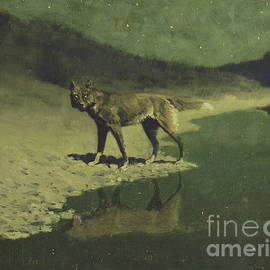 Moonlight, Wolf by Frederic Remington