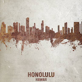 Honolulu Hawaii Skyline by Michael Tompsett