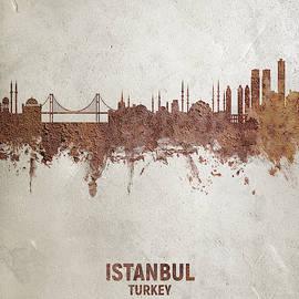 Istanbul Turkey Skyline by Michael Tompsett
