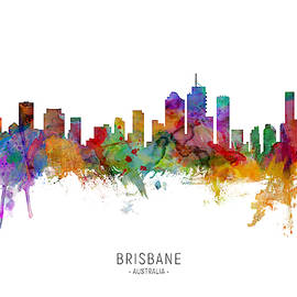 Brisbane Australia Skyline by Michael Tompsett