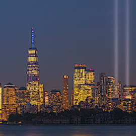 9/11 Memorial In Light by Angelo Marcialis