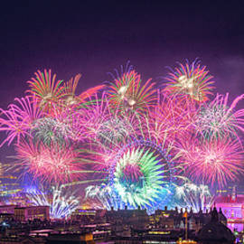 Happy New Year London by Stewart Marsden