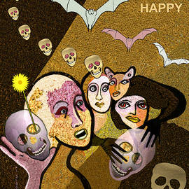 985  Have a happy Halloween - Card  V                V by Irmgard Schoendorf Welch