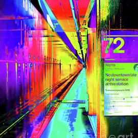 A Colorful Subway Stop Number 72 by Ben Stein