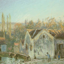 A Corner Of Moret-sur-loing by Alfred Sisley