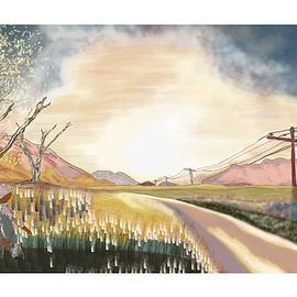 A Country Road And A Tree by Marshal James