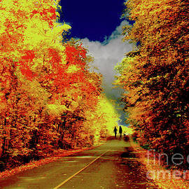 A Country Stroll In The Fall by Al Bourassa