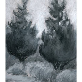 A Couple Of Cedars by Betsy Derrick
