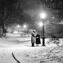 A Couple Pauses For A Cigarette In by New York Daily News Archive