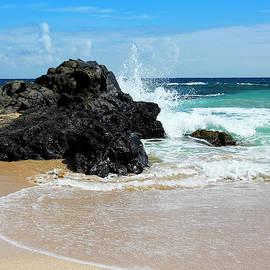 A Crashing Wave, Oneloa Bay, West Maui, Hawaii by Derrick Neill