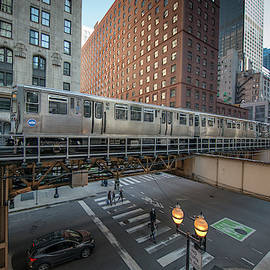 A CTA Brown Line train to Kimball by Jim Pearson