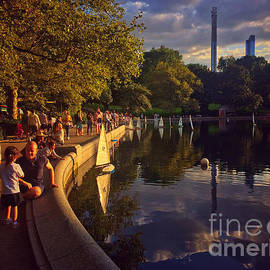A Day at the Pond - Central Park New York by Miriam Danar