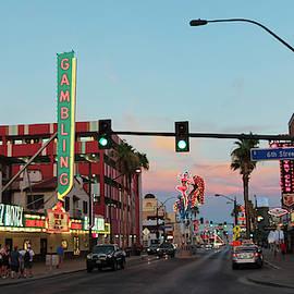 A Fremont East District Sunset Shot, Las Vegas, NV, USA by Derrick Neill