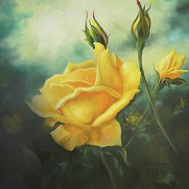 Yellow Friendship Rose by Lynne Pittard