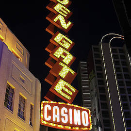 A Golden Gate Sign, Fremont Street Experience, Las Vegas, NV, US by Derrick Neill