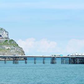 A Great Orme and Llandudno Pier Scene, Llandudno, Wales, GB, UK by Derrick Neill