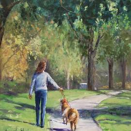 A Lady And Her Two Companions by Beverly Klucher