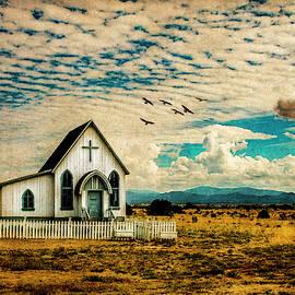 A Lone Prairie Church by Lou Novick