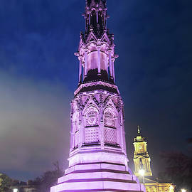 A Misty Night in Historic Hamilton Square, Birkenhead, England,  by Derrick Neill