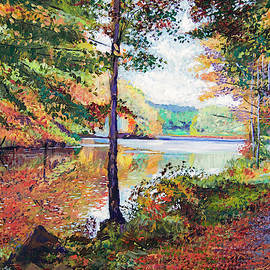 A Quiet Autumn Stroll by David Lloyd Glover
