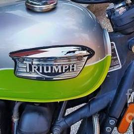 A Rare Triumph Motorcycle by Poet's Eye