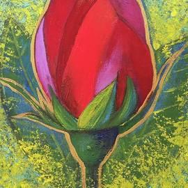 A Single Pink Rosebud by Jean Fassina