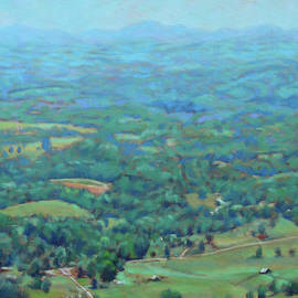 A Slow Summer's Day- View from Roanoke Mountain by Bonnie Mason