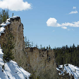 A Snowy Grand Canyon Of The Yellowstone Reaches For The Sky by Bruce Gourley
