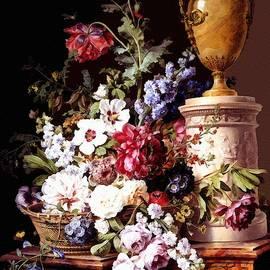 Gert J Rheeders - A Still Life With Alabaster Vase After The Original Painting By Gerard Van Spaendonck L A S