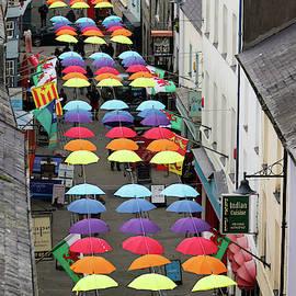 A Street Full of Brollies, Caernarfon, Wales, Great Britain, UK by Derrick Neill