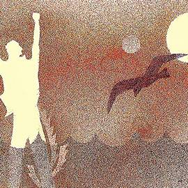 A Sun Bird And A  Man by Hartmut Jager