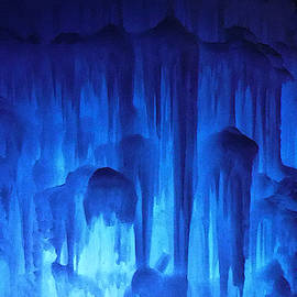 Blue Up To Darkness At The Ice Castle in Woodstock NH by James Turnbull