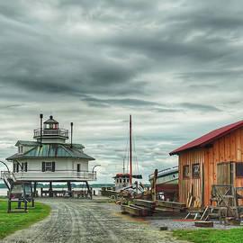 A Working Boatyard by Kathi Isserman