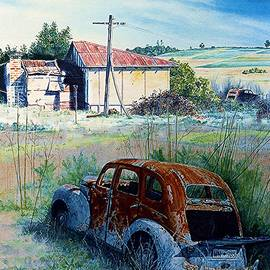 Abandoned Farm and Cars by Hartmut Jager