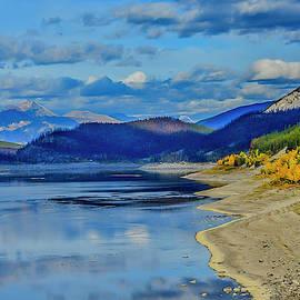 Abraham Lake, Canada by Minnetta Heidbrink