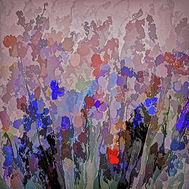 Absract Flowerscape Painting by OLena Art - Lena Owens
